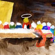 Last Supper W-judas Art Print