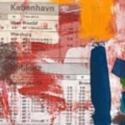 Last Train To Kobenhavn- Art By Linda Woods Art Print