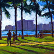 Late Afternoon - Queen's Surf Print by Douglas Simonson