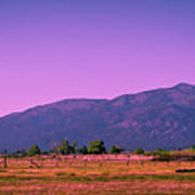 Late Afternoon In Taos Art Print by David Patterson