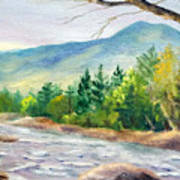 Late Afternoon on the Saco Art Print