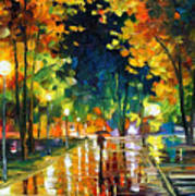 Late Night - Palette Knife Oil Painting On Canvas By Leonid Afremov Art Print