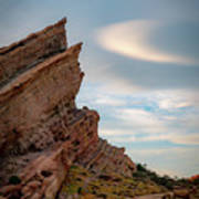 Late On Vasquez Rocks By Mike-hope Art Print