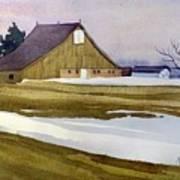 Late Winter Melt Art Print