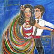 Latin Dancers 11 Art Print