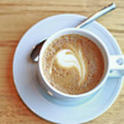 Latte Coffee Drink Art Print