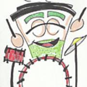 Latte Drummer Art Print