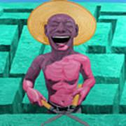 Laughing Gardener Art Print