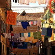 Laundry Day In Venice Art Print