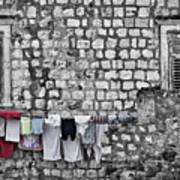 Laundry Line - Dubrovnik Croatia #3 Art Print