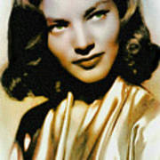Lauren Bacall - Vintage Painting Art Print