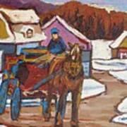 Laurentian Carriage Ride Art Print