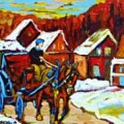 Laurentian Village Ride Art Print