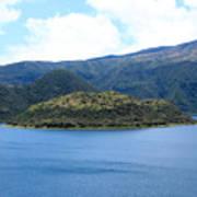 Lava Dome Island In Lake Cuicocha Art Print