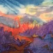 Lava Flow Abstract Art Print