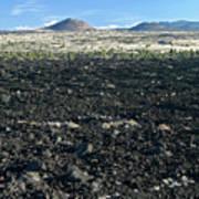 Lava Flow And Schonchin Butte, Lava Beds Nm, California, Usa Art Print