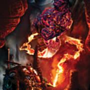 Lava Genie Art Print by Paul Davidson