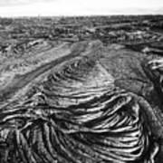 Lava Landscape - Bw Art Print