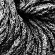 Lava Patterns - Bw Art Print