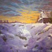 Lavendar Snow Art Print