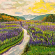 Lavender Brook Art Print