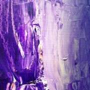 Lavender Cascades In The Purple Mountains Art Print