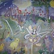 Lavender Fairies Art Print