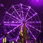 Lavender Ferris Wheel Art Print