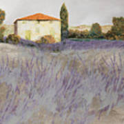 Lavender Art Print by Guido Borelli