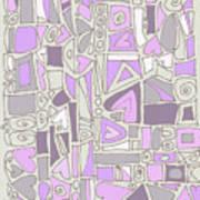 Lavender Hearts Art Print