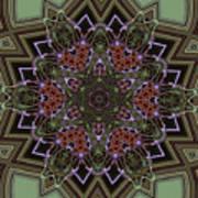 Lavender Mandala Art Print