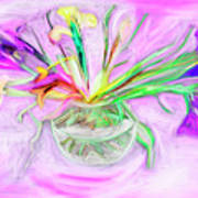 Lavender Orchids Painting Art Print