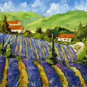 Lavender Scene Art Print