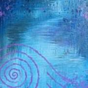 Lavender Spiral  Art Print