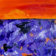 Lavender Sunset Abstract Landscape Art Print