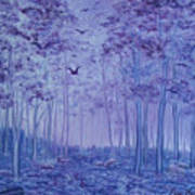 Lavender Woods Art Print