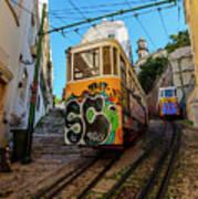 Lavra Funicular, Lisbon, Portugal Art Print