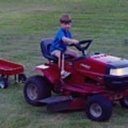 Lawnmower Boy Art Print