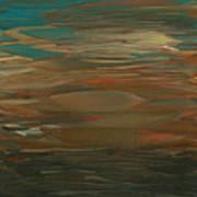 Layered Teal Sunset Art Print