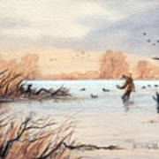 Laying Out The Decoys I Art Print