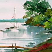 Lazy Cove Art Print