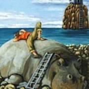 Lazy Days - Surreal Fantasy Print by Linda Apple