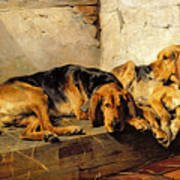 Lazy Moments Print by John Sargent Noble