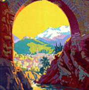 Le Ban, Pyrenees, France, Old Bridge Art Print