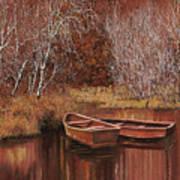 Le Barche Sullo Stagno Art Print