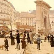 Le Boulevard St Denis - Paris Art Print