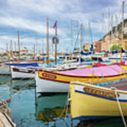 Le Fortune At Nice Harbor, France Art Print