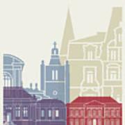 Le Havre Skyline Poster Art Print