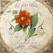 Le Jardin Dahlias Art Print