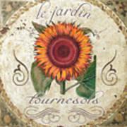 Le Jardin Tournesols  Art Print